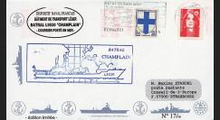 "11NAV-FR02 : 2.3.94 - Pli Marine Nationale française ""BATRAL L9030 CHAMPLAIN"""