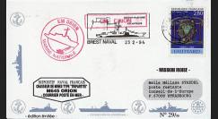 """11NAV-FR05 : 24.2.94 - Pli Marine Nationale française """"Chasseur de mines M645 ORION"""""""