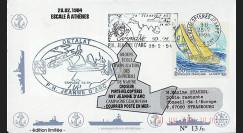 """11NAV-FR09 : 28.2.94 - Pli Marine Nationale franç. """"Porte-hélicoptères R97 Jeanne d'Arc"""""""