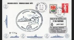 "11NAV-FR26 : 8.4.94 - Pli Marine Nationale franç. ""Frégate F733 VENTOSE"