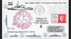 "11NAV-FR30T1 : 6.4.94 - Pli Marine française ""Frégate de surveillance F735 GERMINAL"""