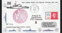 "11NAV-FR30T2 : 6.4.94 - Pli Marine française ""Frégate de surveillance F735 GERMINAL"""