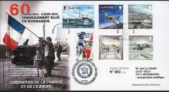 DEB 04-GUE : 2004 - FDC Guernsey - Débarquement allié en Normandie