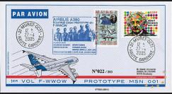 """A380-5T2 : 2005 - Pli France """"1er vol d'essai du prototype 001 de l'A380"""" - TP Einstein"""