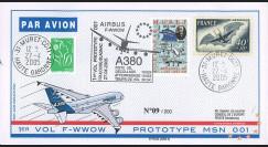"""A380-8 : 2005 - Pli France """"1er vol d'essai du prototype 001 de l'A380"""""""