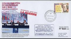 """BR58 : FDC Parlement européen de Bruxelles 20-21.3.2003 """"La GUERRE : Conseil Européen Extraordinaire sur l'Irak"""""""