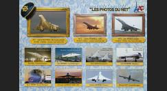 """CO-E12ND : 2008 - Vignettes non-dentelées """"l'Epopée de Concorde - Les Photos du Net"""""""