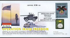 "IK03US5T1 : 23.5.2003 - FDC USA ""Opération IRAQ1 FREEDOM - US Marine"""