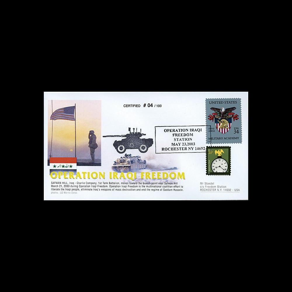 """IK03US5T1 : 23.5.2003 - FDC USA """"Opération IRAQ1 FREEDOM - US Marine"""""""