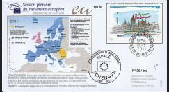 """PE603 : 2011 - FDC Parlement européen """"Débat réintroduction frontières internes dans l'Espace Schengen"""""""