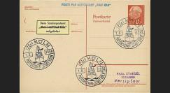 """CSM58 : SARRE 1958 Poste navale """"MS Stadt-Köln"""" Cologne"""