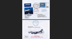 "A380-126 : 2011 - Entier Postal ALLEMAGNE ""1er Vol Frankfurt-New York A380 Lufthansa"""