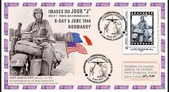"""DEBS1-5/12 : 2011 - FDC 1er Jour """"Juin 1944 : Motard américain sur Harley-Davidson WLA"""""""