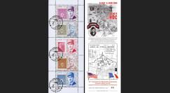 """DEB11-3C : 2011- Carnet porte-timbres 'de Gaulle & Eisenhower - 67e anniversaire D-Day"""""""