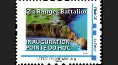 "DEB11-1N : 2011 - 1 Timbre-poste personnalisé ""Inauguration Pointe du Hoc - 2nd Ranger Bataillon"""