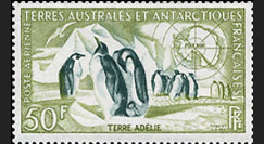 TAAF 2AV : 1956-59 - Timbre des Terres Australes et Antactiques Françaises