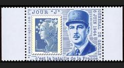 """DEB11-3PT3 : 2011 - Porte-timbre TVP bleu """"Jour 'J' - De Gaulle"""