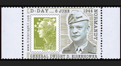 """DEB11-3PT4 : 2011 - Porte-timbre Marianne olive """"D-Day 6 juin 1944 Normandie : Général Dwight David Eisenhower"""""""