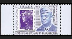"DEB11-3PT5 : 2011 - Porte-timbre Marianne olive ""SHAEF 1944 Supreme Commander : Général Dwight David Eisenhower"""