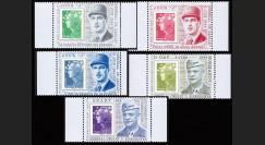 """DEB11-3PT1/5 : 2011 - Série 5 Porte-timbres """"Jour 'J' Discours Général de Gaulle & D-Day Général Eisenhower"""""""