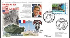 "DEB11-1 : 2011 - FDC ""Inauguration de la Pointe du Hoc"