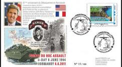 "DEB11-2 : 2011 - FDC ""Inauguration de la Pointe du Hoc"