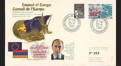 """CE52-ID : 01-2001 - FDC Conseil de l'Europe """"Adhésion de l'Arménie au Conseil de l'Europe"""""""