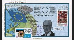 "CE46-II : 04-1995 - FDC Conseil de l'Europe ""Discours de M. Lennart MERI"