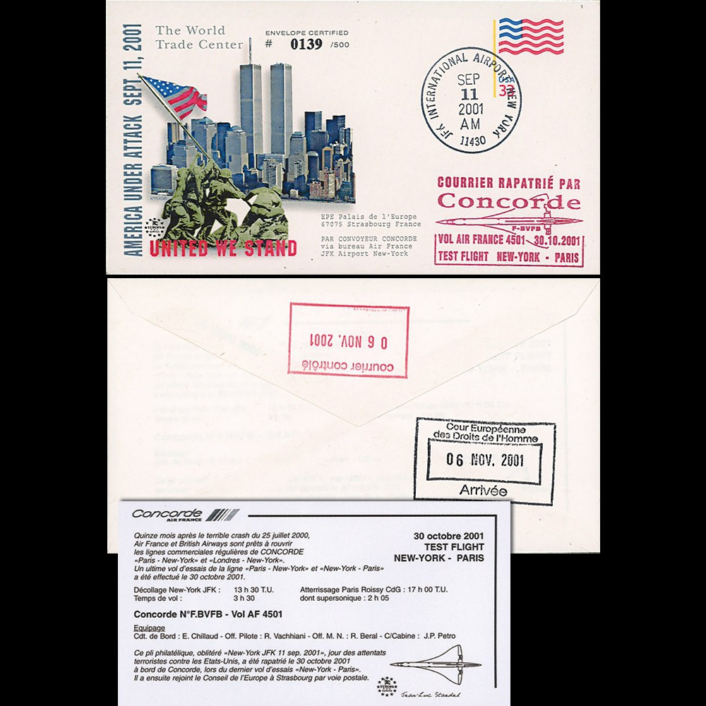 "PE439BT1 : 2001 - EP USA ""Attentats du 11 septembre - The World Trade Center"" TYPE 1"