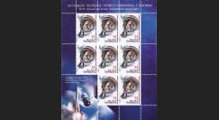 """GAGARIN11-1BN : 2011 - Feuillet 8 valeurs BELARUS """"Youri Gagarine - 50 ans 1er Homme sur la Lune"""""""