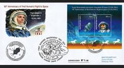 "GAGARIN11-6 : 2011 - FDC KIRGHIZISTAN ""Youri Gagarine - 50 ans 1er Homme dans l'Espace"""
