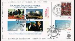 """CE46-DH : 06-1995 - FDC Conseil de l'Europe """"Inauguration Palais des Droits de l'Homme"""""""