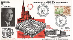 """CDH29 : 1982 - FDC """"1ère visite officielle Pdt Mitterrand à la Cour des Droits de l'Homme"""""""