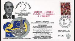 "CE46-I : 01-1995 - FDC Conseil de l'Europe ""Discours M. Balladur"