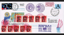 "MIR01-D : 2001 - Entier Postal RUSSIE ""Destruction de la Station spatiale MIR"""