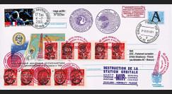 """MIR01-D : 2001 - Entier Postal RUSSIE """"Destruction de la Station spatiale MIR"""""""