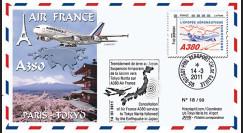 """A380-129T2 : 2011 - FFC (Pli) """"Suspension Vol Paris-Tokyo Airbus A380 Air France"""""""