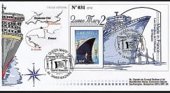 QM2-1 : 2003 - Premier jour du timbre français Queen Mary 2