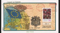 """CE45-IVC : 11-1994 - FDC Conseil de l'Europe """"Adhésion d'Andorre au Conseil de l'Europe"""""""