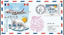 """A380-131 : 2011 - FFC (Pli) """"Inaugural Flight A380 Air France Paris-Montréal"""""""