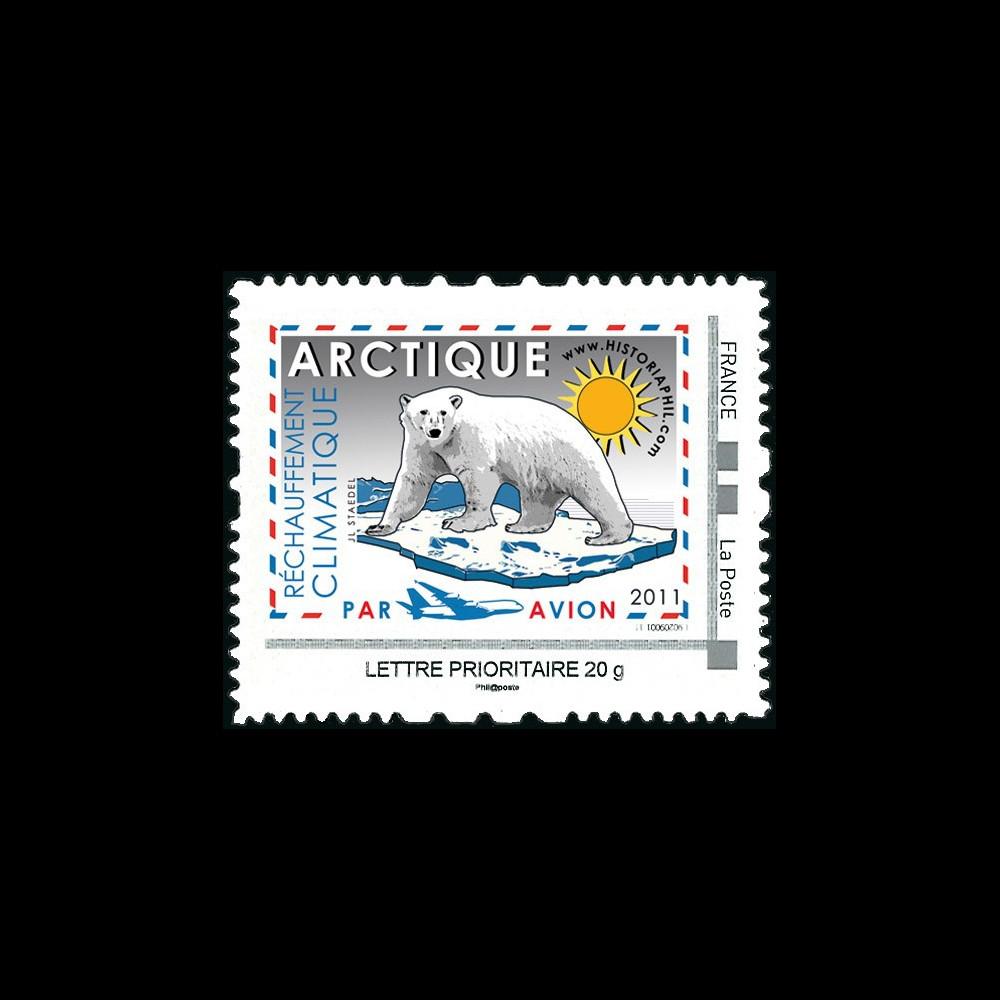 """A380-130N : 2011 TPP France Lettre Prio 20g """"Réchauffement climatique ARCTIQUE / A380"""""""