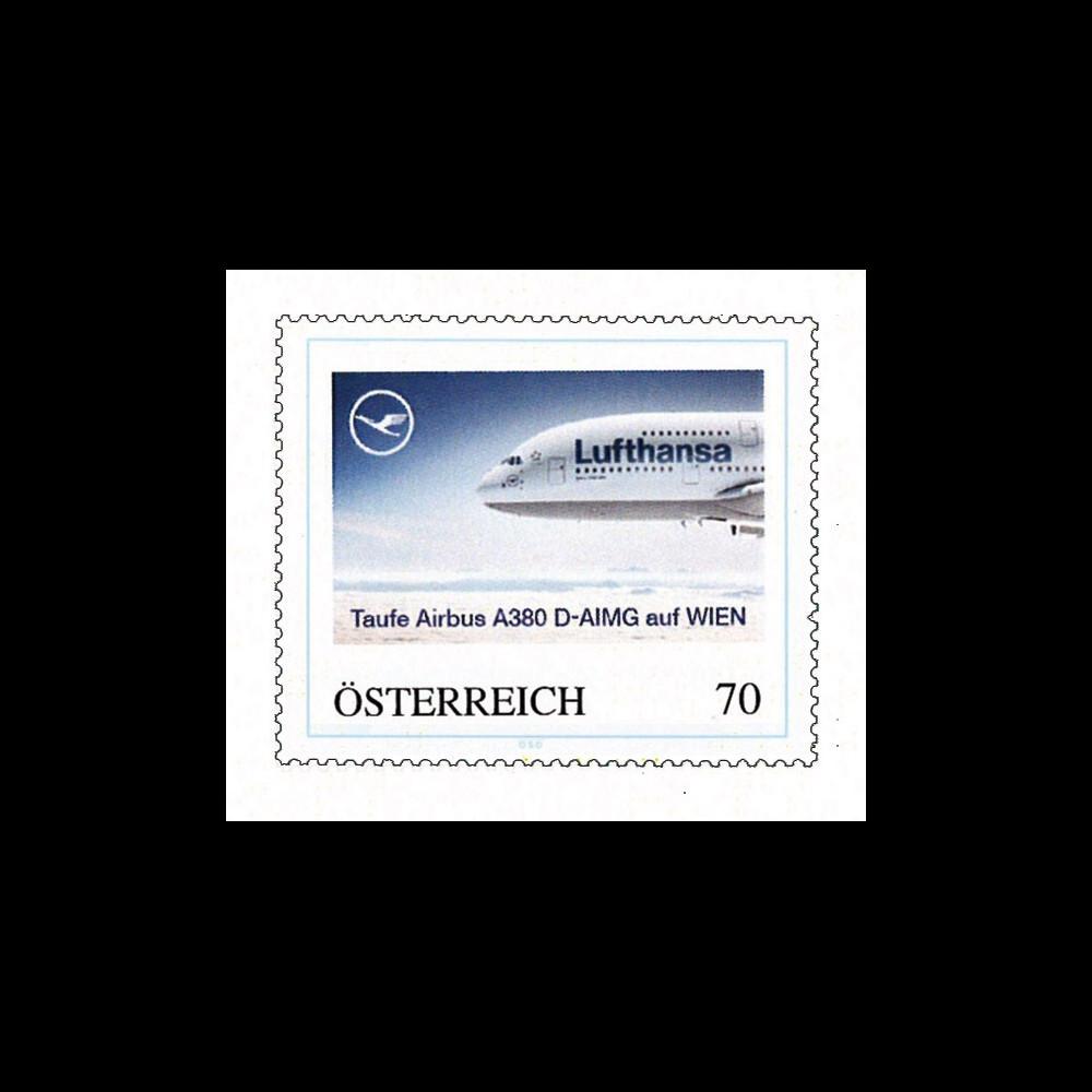 "A380-140N : 2011 - TPP Autriche ""A380 D-AIMG baptisé 'Wien' - compagnie Lufthansa"""