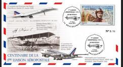 """A380-124 : 2011 - FFC (Pli) """"Centenaire 1ère Liaison Aéropostale 1911-2011"""" Bracquemont"""