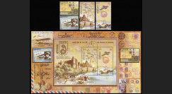 "A380-122-123N : 2011 - INDE bloc-feuillet + 4 valeurs "" INDIPEX 2011 - 100 Years of Airmail"""