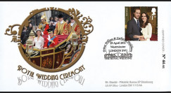"WED11-2 : 2011 - FDC GRANDE-BRETAGNE ""Mariage Princier William & Kate Middleton"""