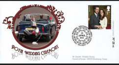 "WED11-4 : 2011 - FDC GRANDE-BRETAGNE ""Mariage Princier William & Kate Middleton"""