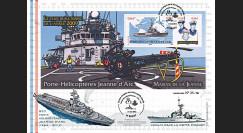 """NAV11JA-1B : 2011 - Maxi-FDC """"PH R97 Jeanne d'Arc et Frégate D645 La Motte Picquet"""""""