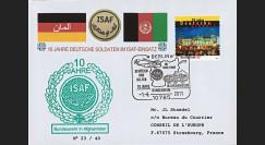 """ISAF11 : 2011 - FDC Afghanistan Feldpost """"10 ans d'engagement de Bundeswehr dans l'ISAF"""""""