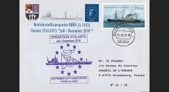 "ATALANTA-2 : 2010 - FDC Allemagne ""Opération ATALANTE-Somalie - pétrolier A 1443 RHÖN"""