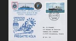 """ATALANTA-3 : 2010 - FDC Allemagne """"Opération ATALANTE-Somalie - Frégate F 211 KÖLN"""""""